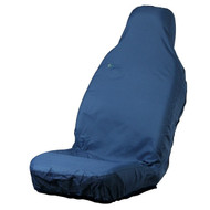 Single Front Universal Fit Seat Cover -  Blue
