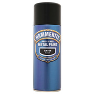 Hammerite Satin Black Spray Paint - 400 ml