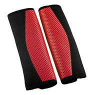 A Pair of Seat Belt Pads - Red & Black
