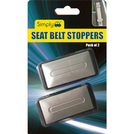 A Pair of Seat Belt Safety Clip - Black & Silver