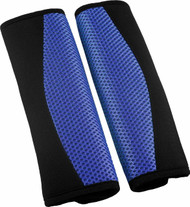 A Pair of Seat Belt Pads - Blue & Black