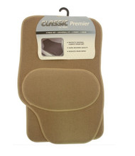 4 Piece Universal Carpet Car Mat Set - Beige