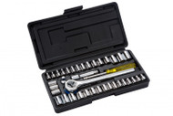 Metric & AF 1/4 inch & 3/8 inch Drive - 40 Piece Socket Set