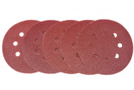 6 Pack 125 mm Mixed Grit Sanding Disc - Hook & Loop Fitting
