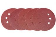 6 Pack 125 mm Mixed Grit Sanding Disc - Hook & Loop Fitting