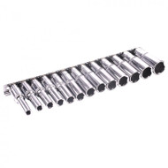 "3/8"" Drive Deep Metric Socket Set - 6 7 8 9 10 11 12 13 14 15 16 17 & 19"