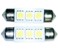 Copy of A Pair of White LED Bulbs - 239 12 Volt 38 mm Long