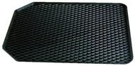 Single Universal Rubber Deep Tray Car Mat - 55 cm x 45 cm Black