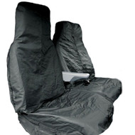 Water Resistant Nylon Seat Covers For 3 Seat Vans - Black Single & Twin