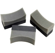 A Pack of 3 Tyre Sponges Dressing Applicators