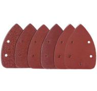 Detail Sander Pad Sheets Mixed Grade - 2 x 60, 2 x 80, 2 x 120 Grit