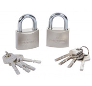 A Pair of 40 mm Matching Key Alike Padlock - Same key Fits Both Locks