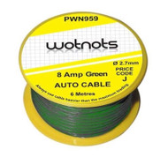 8 Amp Green Wire / Cable - 6 Meters
