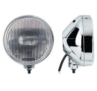 "A Pair of Chrome Driving Lights With Clear Lens - 6½"" (18 cm)"