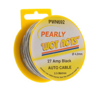 27 Amp Black Wire / Cable - 2.5 Meters