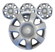 Silver High Gloss Car Wheel Trims - 15 Inches