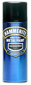 Hammerite Hammered Finish Black Spray Paint - 400 ml