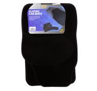 Black Carpet Car Mat Set - Set of 4