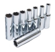 "1/4"" Drive Metric Deep Socket Set - 4 mm to 13 mm"