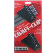 A Pair of Seat Belt Slide Clips - Black