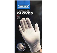 A Pack of 10 Vinyl Powder Free Gloves - Large