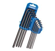 9 Piece Long Torx / TX Star Key Set In A Plastic Storage Holder