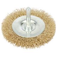 100 mm Wire Rotary Flat Brush - 6 mm Shank