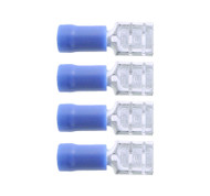 15a Blue Female Spade Wiring Connectors - 4 in a Pack