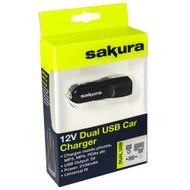 12 Volt Twin USB Aux Power Socket - 2100 mA Output