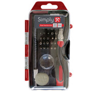 Precision Screwdriver Bit Set With Flexible Extension and Magnifier
