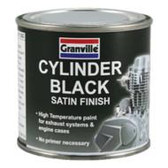 Satin Finish Cylinder Black Brush on Heat Resistant Paint - 250 ml