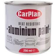 Bright Silver / Aluminium Heat Resisting Brush on Paint - 250 ml