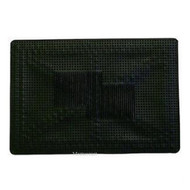 Single Universal Rubber Car Mat - 50 cm x 35 cm Black