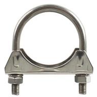 "Steel Twin Bolt 'U' Exhaust Clamp - 65 mm (2½"")"