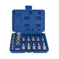 "30 Piece Star Socket & Bit Set - 1/4"" & 3/8"""