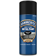 Hammerite Smooth Black Spray Paint - 400 ml