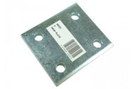 """3"""" Tow Ball Drop Plate with 4 Holes, Zinc Plated"""