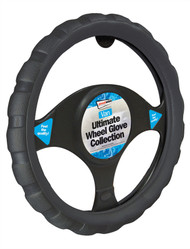 Sports Grip Steering Wheel Cover For Vans & Larger Wheels - 38 cm Black