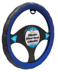 Steering Wheel Cover For Cars - 37 cm Blue / Black