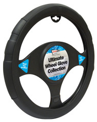 Steering Wheel Cover For Cars - 37 cm Black