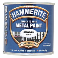 White Hammerite, Smooth Finish  - 250 ml