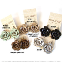 EARRINGS - CABBAGE ROSE