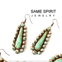 EARRINGS - LITTLE ELLIE (turquoise stone)