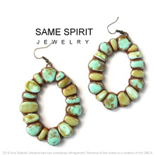 EARRINGS - PUEBLO (distressed turquoise)