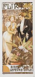 Alphonse Mucha Flirt Biscuits Lefevre Utile