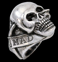 Sterling Silver Ben Styke Mad Lancer Skull Ring
