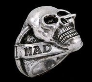 The Mad Lancer Sterling Silver Skull Ring