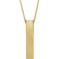 14k Yellow Gold Sculptural Design Necklace