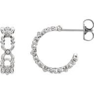 Quatrefoil Hoop Earrings