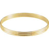 Grooved Bangle Bracelet in 14k Yellow Gold